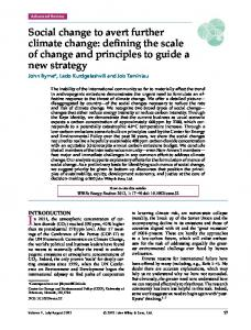 Social change to avert further climate change - Wiley Online Library