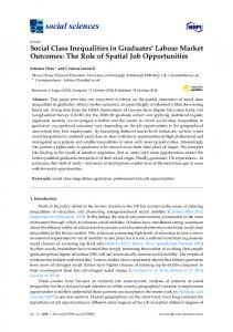 Social Class Inequalities in Graduates' Labour Market Outcomes - MDPI