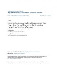 Social Cohesion and Cultural Expressions: The Case ...