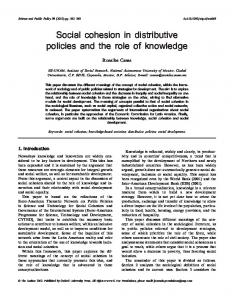 Social cohesion in distributive policies and the role ... - Oxford Journals