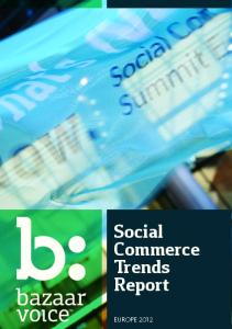 Social Commerce Trends Report 2012