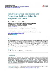Social Comparison Orientation and Perspective Taking as Related to ...