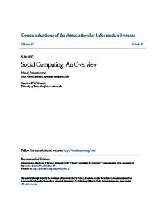 Social Computing: An Overview