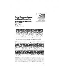 Social Constructionism and Social Inequality - SAGE Journals