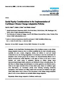 Social Equity Considerations in the Implementation of ... - CiteSeerX