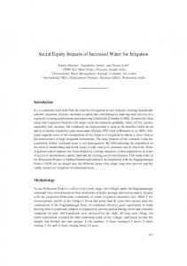 Social Equity Impacts of Increased Water for Irrigation - AgEcon Search