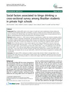 Social factors associated to binge drinking: a cross ... - CiteSeerX