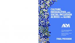 social inclusion inequalities,and culture, across the ...
