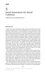 Social Innovation for Social Cohesion - Springer Link