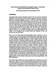 Social Institutions and Global Environmental Change ...