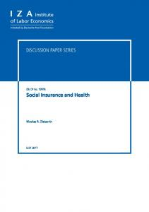 Social Insurance and Health - Papers.ssrn.com