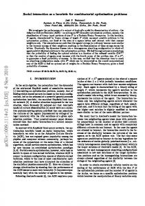 Social interaction as a heuristic for combinatorial optimization problems