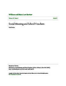 Social Meaning and School Vouchers