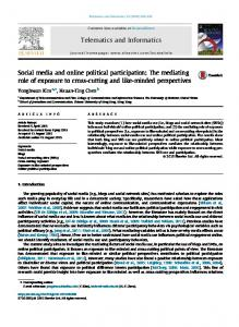 Social media and online political participation - School of Journalism