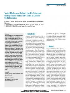 Social Media and Patient Health Outcomes