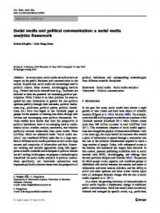 Social media and political communication: a social ... - Semantic Scholar