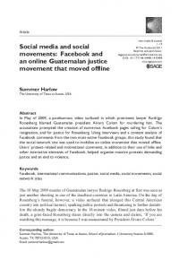 Social media and social movements: Facebook and an ... - CiteSeerX