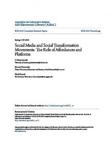 Social Media and Social Transformation Movements: The Role of ...