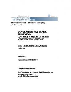 SOCIAL MEDIA FOR SOCIAL INNOVATION ... - Unitn-eprints