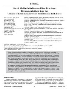 Social Media Guidelines and Best Practices ... - eScholarship