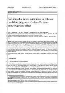 Social media mixed with news in political candidate ... - IOS Press