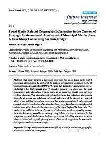 Social Media-Related Geographic Information in the Context of ... - MDPI