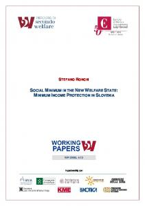 social minimum in the new welfare state: minimum ... - Secondo Welfare
