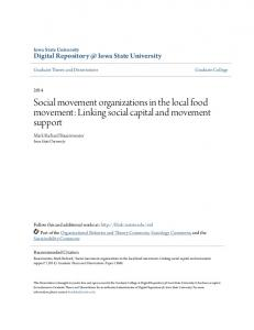 Social movement organizations in the local food ...