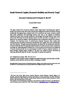 Social Network Capital, Economic Mobility and ...