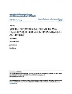 SOCIAL NETWORKING SERVICES AS A ... - Semantic Scholar
