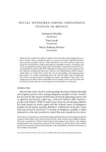 SOCIAL NETWORKS AMONG INDIGENOUS PEOPLES IN MEXICO ...