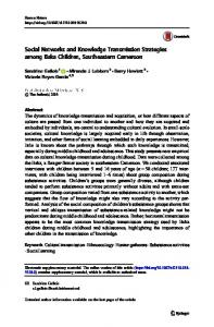 Social Networks and Knowledge Transmission