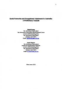 Social Networks and Occupational Attainment in