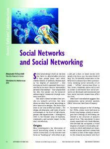Social Networks and Social Networking - CiteSeerX
