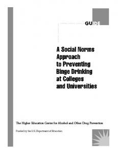 Social Norms Approach to Preventing Binge Drinking on ... - CiteSeerX