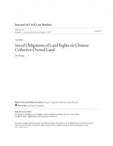 Social Obligations of Land Rights on Chinese Collective-Owned Land