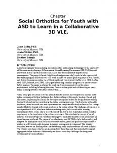 Social Orthotics for Youth with ASD to Learn in a