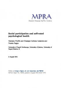 Social participation and self-rated psychological health
