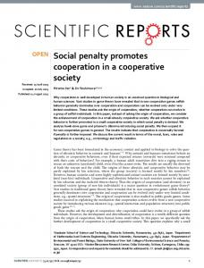 Social penalty promotes cooperation in a cooperative society - Nature