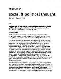 social & political thought - PhilPapers