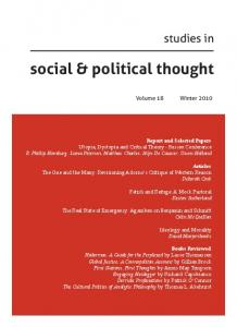 social & political thought
