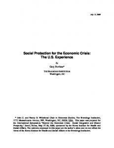 Social Protection for the Economic Crisis - Brookings Institution