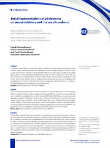 Social representations of adolescents on sexual relations and the use