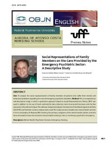 Social Representations of Family Members on the Care Provided by ...