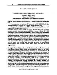 Social Responsibility by Open Innovation