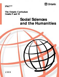 Social Sciences and the Humanities