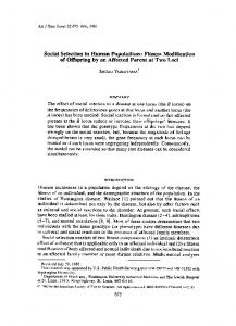 Social Selection in Human Populations: Fitness ... - Europe PMC
