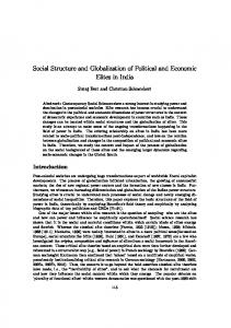 Social Structure and Globalization of Political and Economic Elites in ...