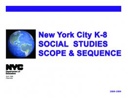 Social Studies Scope & Sequence - School Search - New York City ...