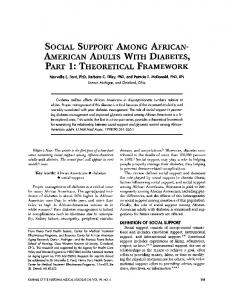SOCIAL SUPPORT AMONG AFRICAN- AMERICAN ADULTS WITH ...